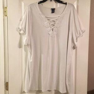 Torrid White shirt sz 5